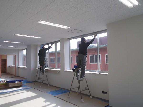 窓遮熱コーティングの施工4