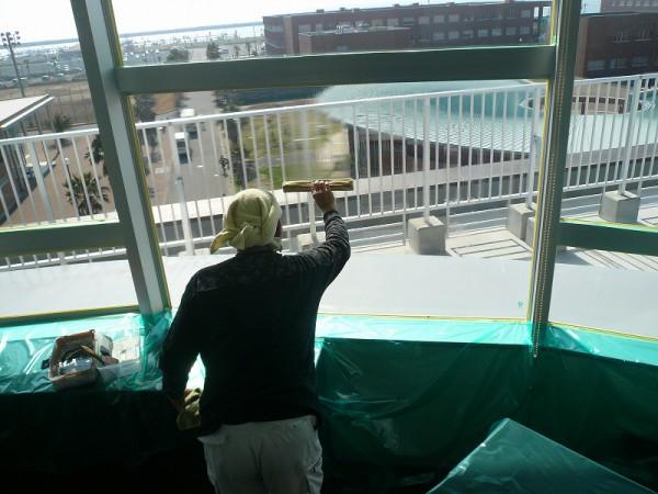 窓遮熱コーティングの施工7
